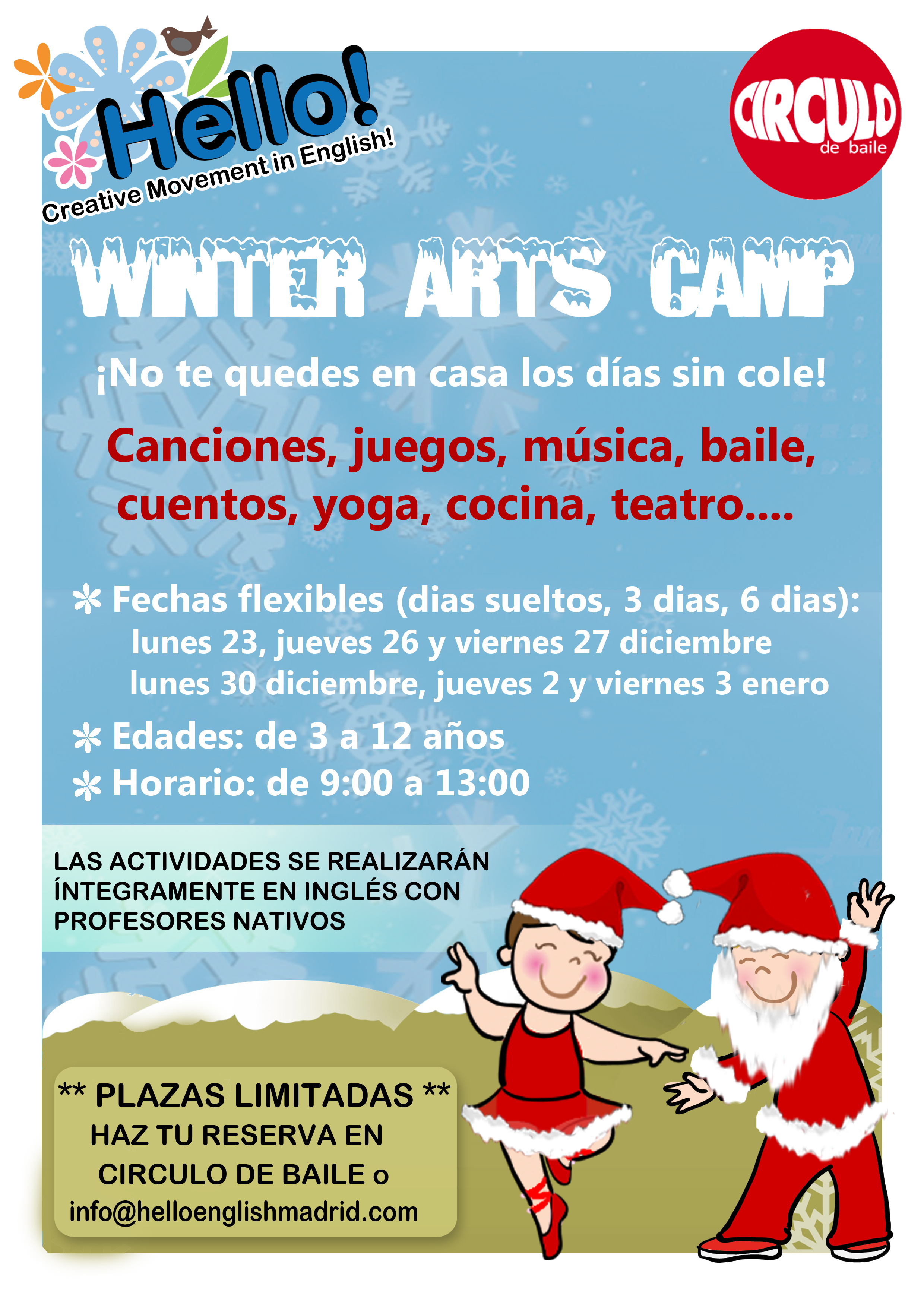 Hello English. Cartel Wintercamp CB