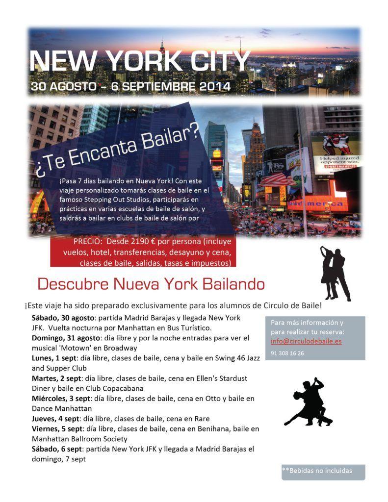 Viaje a Nueva York 2014 Flyer