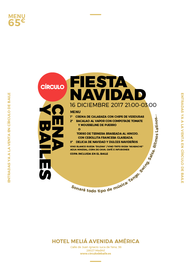 Fiesta de Navidad de 2017. Flyer