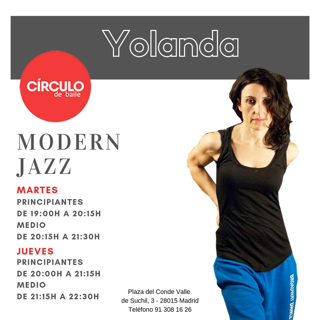 Clases de Yolanda. 2019-20. Modern Jazz