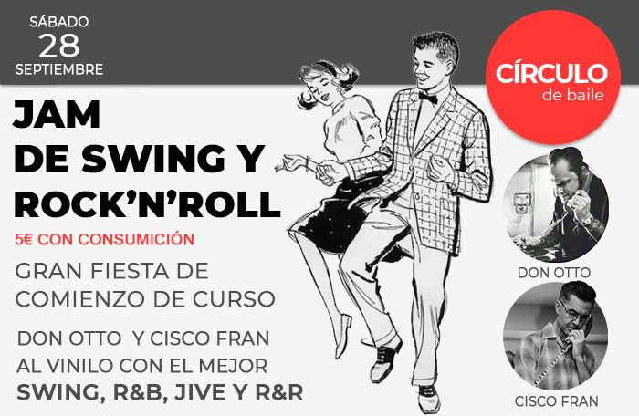 Cartel de la Jam de Swing y Rock and Roll