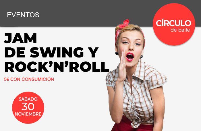Jam de Swing y Rock'n'Roll en Círculo de Baile el sábado 30 de noviembre