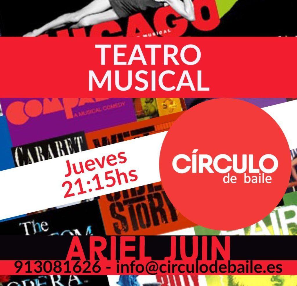 Teatro Musical para adultos con Ariel Juin en Círculo de Baile