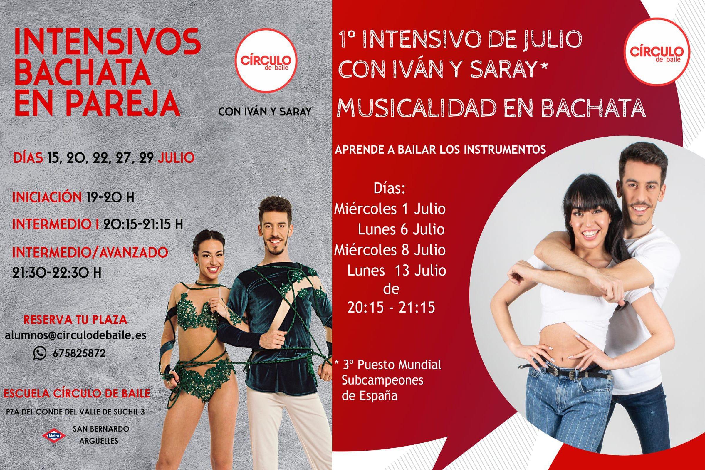 Cursos intensivos de Iván y Saray en julio 2020