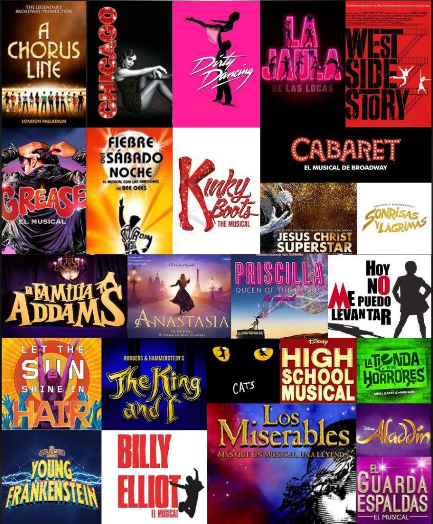 Obras a trabajar en los Talleres Online de Teatro Musical de Círculo de Baile